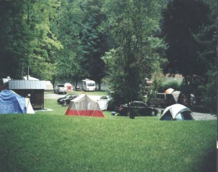 Tent Camping on the Nantahala River North Carolina.