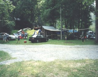 Tent on the Nantahala River North Carolina
