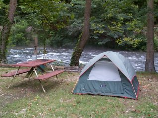 River Site Camping on the Nantahala River Bryson City North Carolina